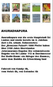Anuradhapura Beschreibung Anaradapura