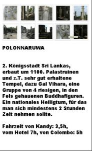 Polonnaruwa Kurzinfo Entfernung von Colombo Polonaruwa