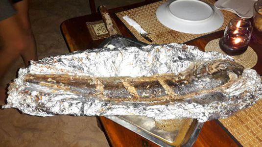 gegrillter Barracuda