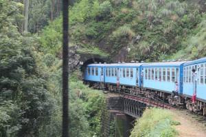Zug im Hochland von Sri Lanka Tunnel