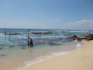 Stelzenfischer sind beliebte Fotomotive in Sri Lanka