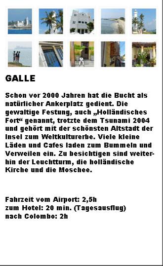 Galle Kurzportrait Überblick Karte Stichworte