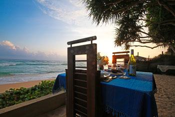 Dinner ganz dicht am Meer
