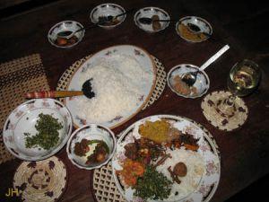Typisches Gericht Sri Lanka