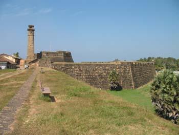 Galle Festungsmauer und Glockenturm
