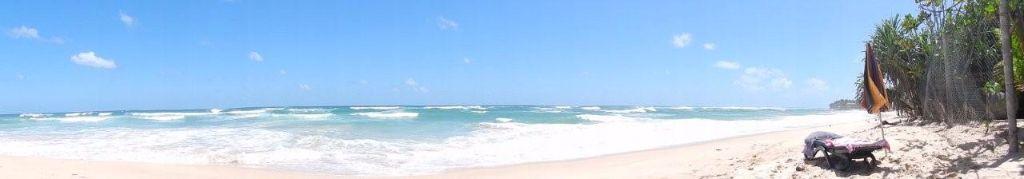 """Strand vor dem Hotel """"Wilde Ananas"""" in Sri Lanka"""