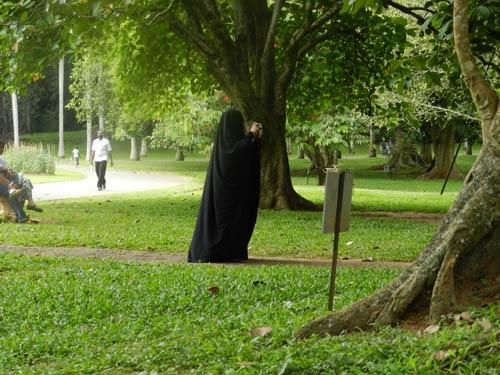 Sri Lanka verschleierte verhüllte muslimische Frau