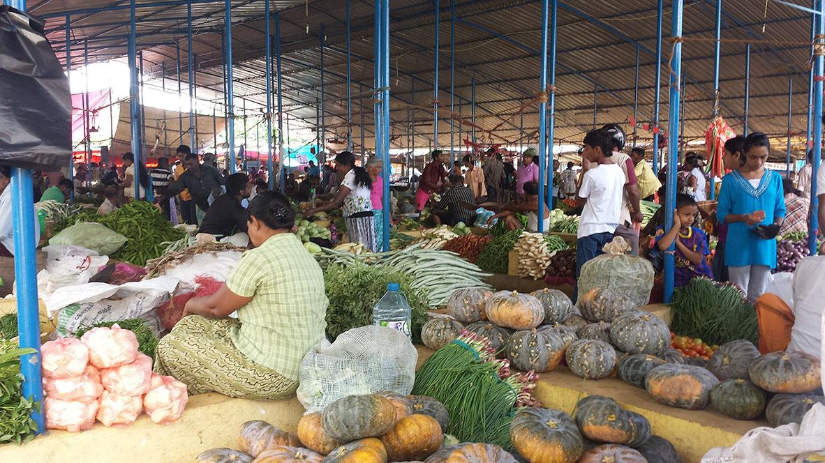 In Sri Lanka typischer Wochenmarkt Habaraduwa